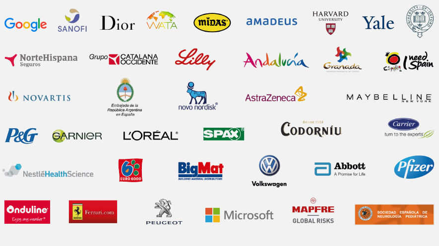Logos clientes Aixa Dreams